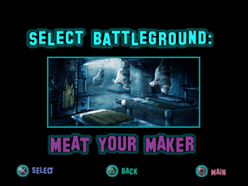 Twisted Metal - Small Brawl - Meat Your Maker lvlsel