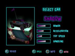 Twisted Metal - Small Brawl - Shadow carsel