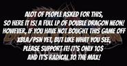 Double Dragon Neon Intro Text