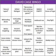 David Cage Bingo