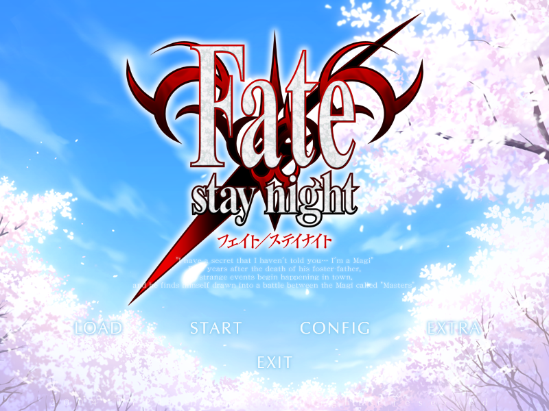 Fate Stay Night Choices Original Fate/stay Night