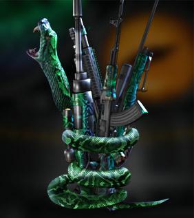 UberSnake includes Snake Edition AWP, P Lance, AK-47, SPAS-12 and the Boomslang