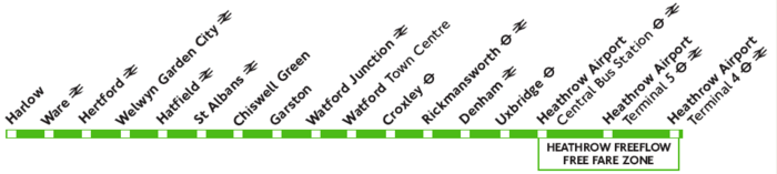 Green Line 724 route diagram