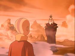 Aang meets Roku