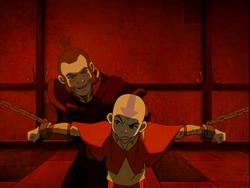 Aang captive