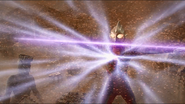 Ultraman Tiga gathers energy Zepellion
