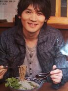 Hiroshi with food