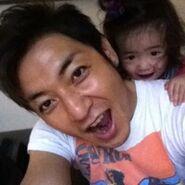 Takeshi & his daughter