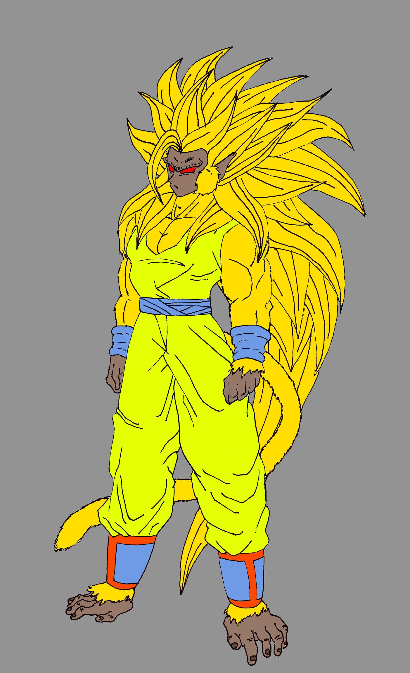 Goku becoming a Super Saiyan