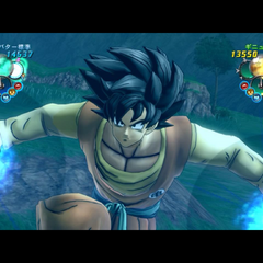 A created character using the guided Kamehameha
