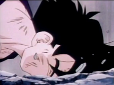 Gohan fells to his death2