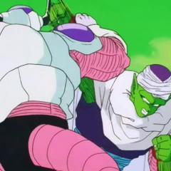 Piccolo battles Frieza on Namek