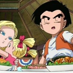 Android 18 with her family in <i>Dragon Ball: Yo! Son Goku and His Friends Return!!</i>