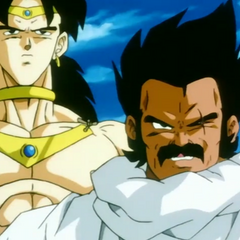 Broly with his father, Paragus