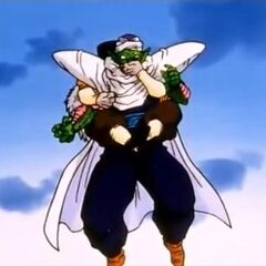Dr. Gero absorbs Piccolo's energy
