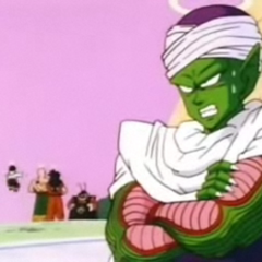 Piccolo is annoyed by King Kai's training regiment