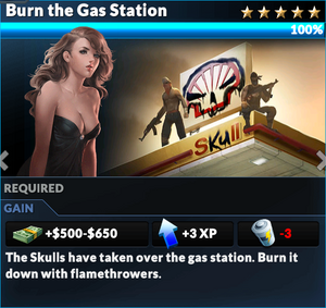Job burn the gas station
