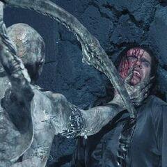 Marcus prepares to kill Kraven.