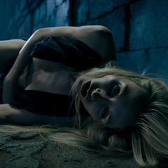 Olga unconscious after hitting Selene
