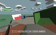 The crashed cargo ship