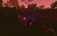 Blue Truck on sunset