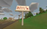 Washington - Billboard ''Big Boom Fireworks'' - entrance of Seattle from Olympia Military Base