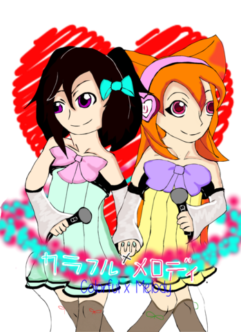 File:Colorful x melody hoshine amaya and kokone kara by makunijiiro.png