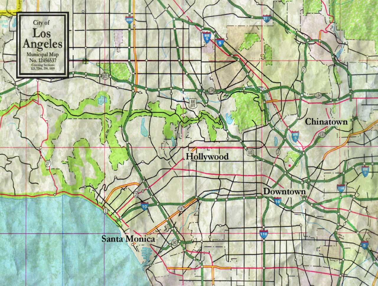 Los Angeles Vampire The Masquerade  Bloodlines Wiki FANDOM - Los angeles geography map