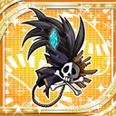 Black Feathered Hairpin H icon
