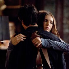 Elena embraces Damon 2
