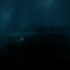 Car at the bottom of the river