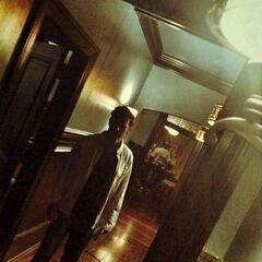 Alaric behind the scenes