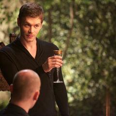 Klaus making an announcement