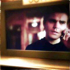 Behind the scenes shot of Stefan
