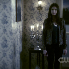 Elena as she appears in Damon's flashback dream from 1864