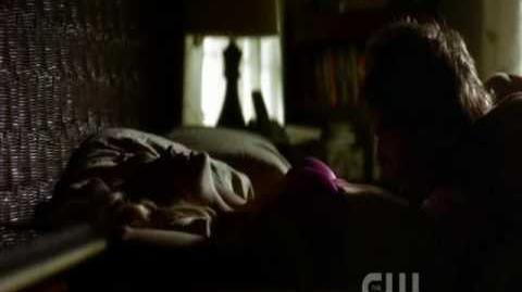 Caroline is bitten for Damon 1x02 .