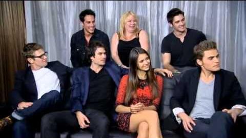 EW The Vampire Diaries Live Interview (Comic Con 2012)