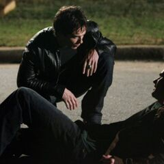 Damon and Logan on Elm Street.