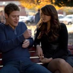 Matt talking to Katherine in Elena 's body