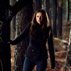 Elena in the woods.