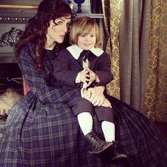Annie with baby Stefan