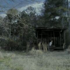 Stefan wakes up in the quarry.