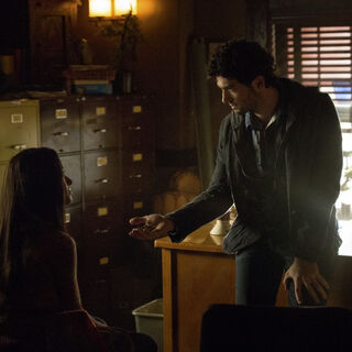 Bonnie and Shane in his office