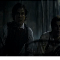 the Salvatore brothers trying to save Katherine