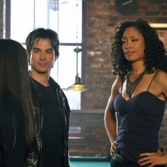 Damon introducing Elena to Bree.