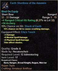 Earth Shortbow of the Assassin