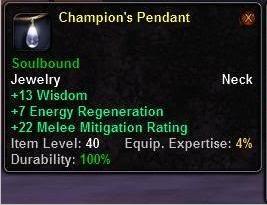 Champion's Pendant