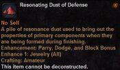 Resonating dust defense