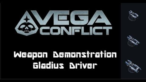 VEGA Conflict Gladius Driver Weapon Demonstration
