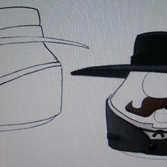 Concept art for Mr. Lunt as Wyatt in <i>